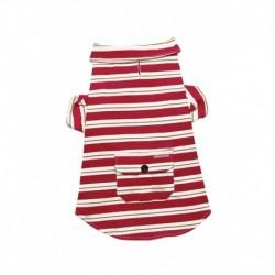 Jersey Polo Rayas Rojo M
