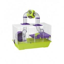 Jaula hamster 967 blanca 50,5x28x32cm