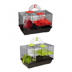 Jaula hamster 938 negra 50,5x28x32cm