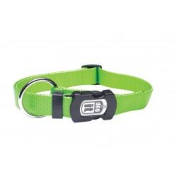 Collar nylon liso verde 10mmx25-40cm
